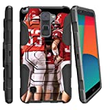 LG Stylo 2 |LG Stylus 2 Case,[Armor Reloaded] Dual Layer Belt Clip Holster Kickstand Combo Football Sports [L82VL L81VL K540 K520] by Miniturtle - Team Huddle