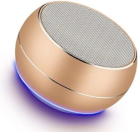 Portable Bluetooth Speakers-Lenrue Mini Wireless Outdoor Rechargeable Speakers with LED
