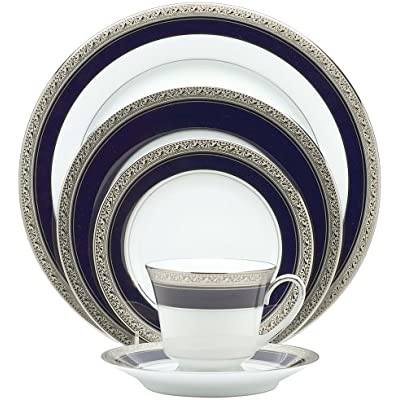 Click for Noritake Crestwood Cobalt Platinum 20-Piece Dinnerware Place Setting, Service for 4