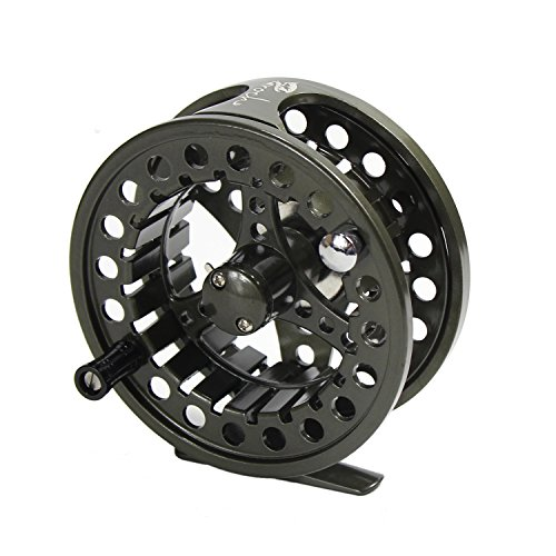 Croch Fly Fishing Reel with CNC-machined Aluminum Alloy Body 5/6 Gun Green