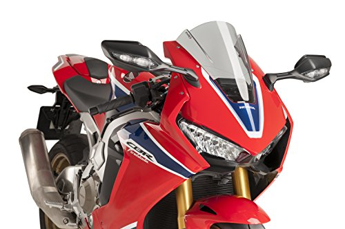 17-18 HONDA CBR1000RR: Puig Racing Windscreen (3mm) (Smoke) (Racing Puig)