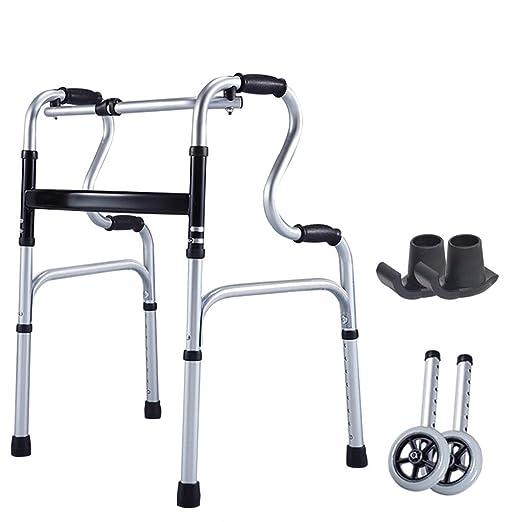 Xinjin El Andador de Aluminio para Caminante Plegable Walker de ...