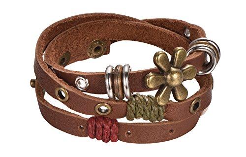 Leather Bracelet Flower Regetta Jewelry