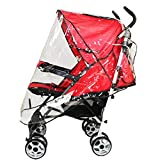Dsood Universal Baby Stroller Rain Cover Waterproof Umbrella Stroller Wind Dust Shield Cover for Strollers (White, 12-18M)