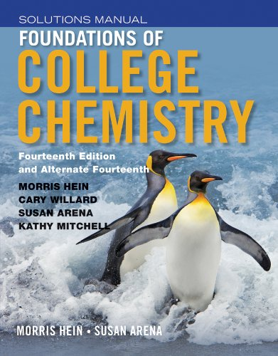 Chemistry Student Solutions - Foundations of College Chemistry, Student Solutions Manual