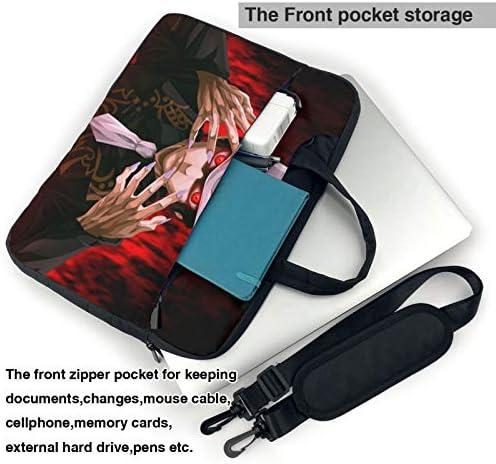 Demon Slayer Laptop Sleeve Case Handheld One Shoulder Shockproof Oxford Protective Case//Notebook Computer Pocket Case//Tablet Briefcase Carrying Bag Compatible-15.6 inch