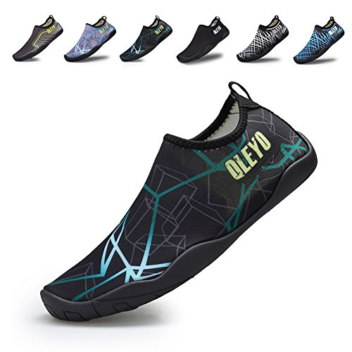 QLEYO Men and Women Water Sports Shoes Barefoot Quick-Dry Multifunctional Sneakers with Drainage Holes