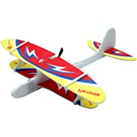 Amitasha Foam Glider Aircraft Rechargeable Flying Toy for Kids (Multi-Color)