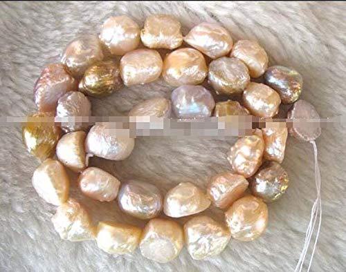 Calvas wholesales Genuine Freshwater Natural Pearl Multicolor 10-13mm Baroque Loose beads15