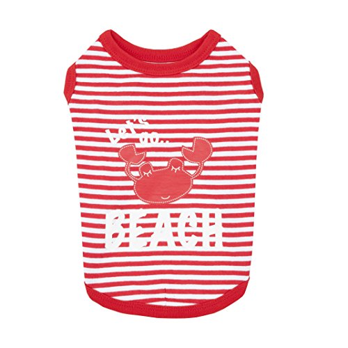 Beach Party Dog Shirt by Puppia - Red by Puppia