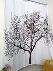Fashionbox Personalized Home Tree Pattern Shower Curtain