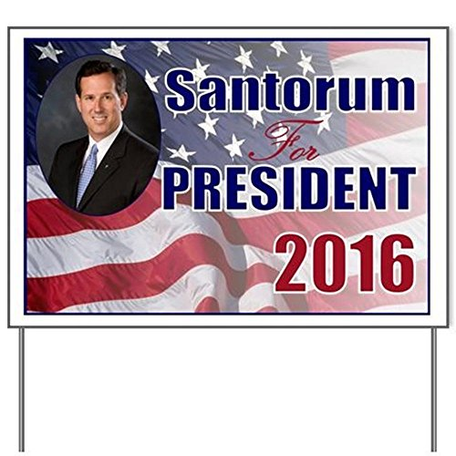 Rick Santorum For President Yard SignYard Sign, Vinyl Lawn Sign, Political Election Sign