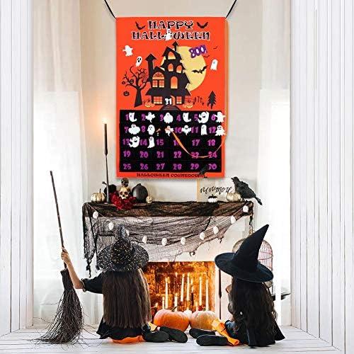 Calendario de cuenta atrás de Halloween de fieltro para niños ...