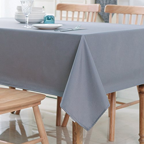 Votown Home Rectangular Solid Polyester Tablecl...