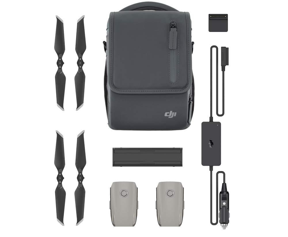 DJI - Mavic 2 Fly More Kit | Mit 2 intelligenten Flugakkus, 1 Mehrfachladegerät, 1 Autoladegerät, Niedrig-Noise-Propellern und 1 Tragetasche