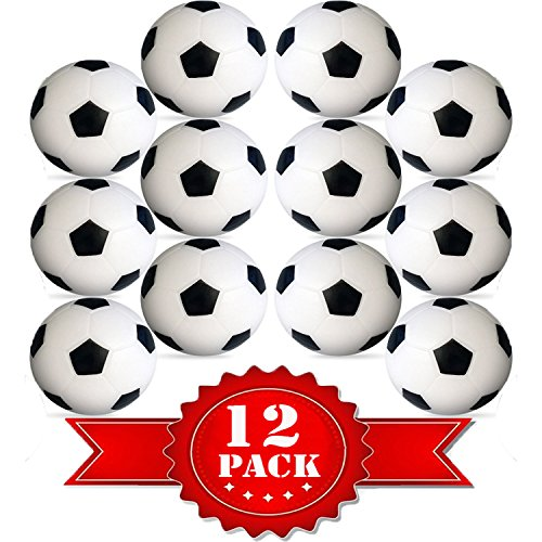 Game Mini Set Foosball (Table Soccer Foosballs Replacements Mini Black and White Soccer Balls - Wholesale Pack - Set of 12)