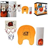 Slam Dunk Toilet Basketball Game Gadget Potty Basketball - Perfect Gift for Basketball Lovers