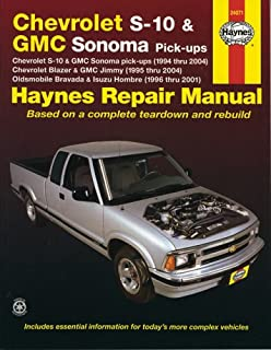 haynes chevrolet s 10 and gmc sonoma pick ups 94 01 manual rh amazon com Manual S10 Burnout S10 Manual Shift