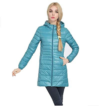 Abrigo largo de la chaqueta de las mujeres Abrigo de Invierno para Mujer con Capucha Chaqueta