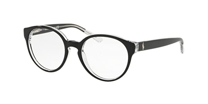 Ralph Lauren POLO 0PP8533 Monturas de gafas, Top Black On Crystal ...