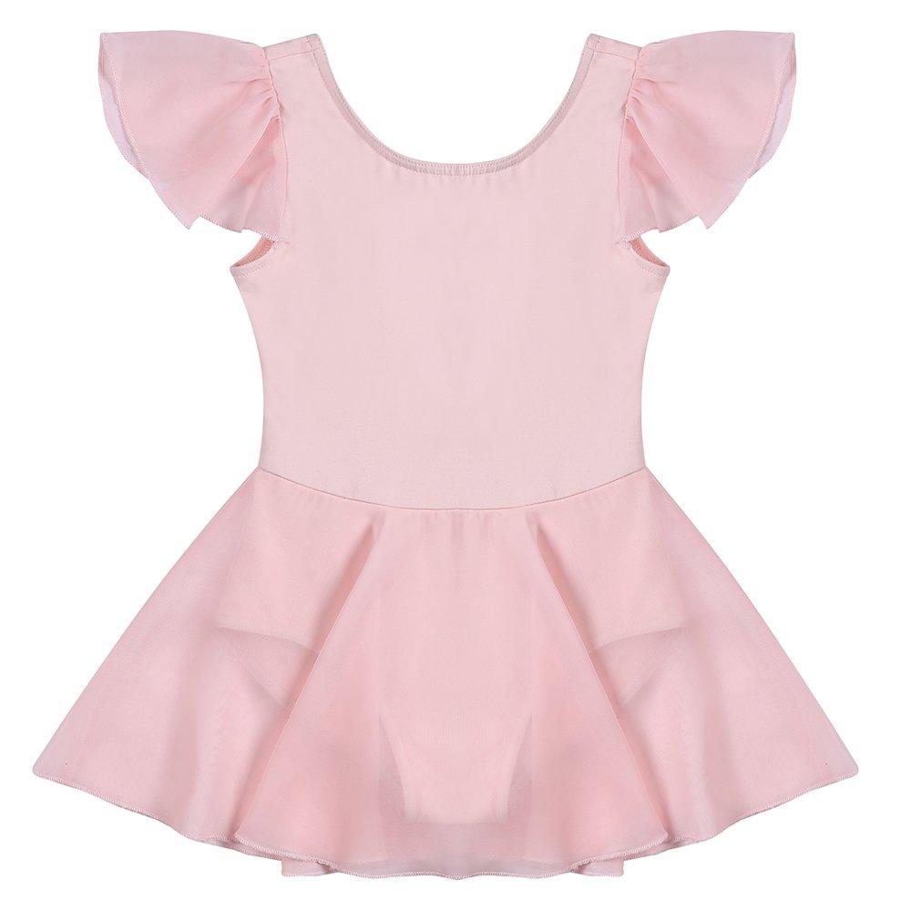 a38fdd5cd0f1f STELLE Girls' Ruffle Short Sleeve Tutu Skirted Ballet Leotard Dance, Ballet(110cm,  Pink) - CG170005-PK-110 < Leotards < Sports & Outdoors - TIBS