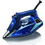 Image of Rowenta DW9280 Steam Force 1800-Watt Professional Digital LED Display Iron with Stainless Steel Soleplate, 400-Hole, Blue