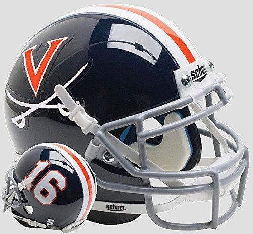 (Schutt Virginia Cavaliers Mini XP Authentic Helmet Blue 16 - Licensed NCAA Merchandise)