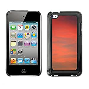 Hot Style Cell Phone PC Hard Case Cover // M00150544 Air Atmosphere Background Red Sunset // Apple ipod Touch 4 4G 4th