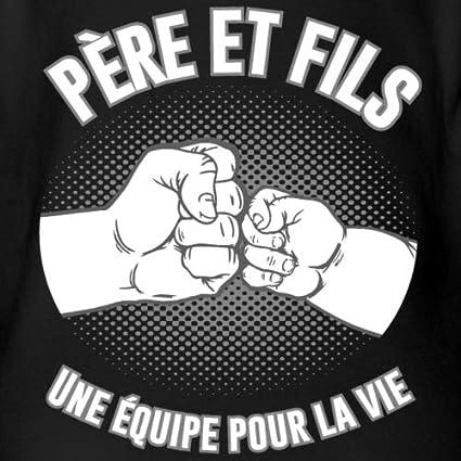 Spreadshirt P/ère Et Fils Une /Équipe pour La Vie Body B/éb/é Bio Manches Courtes
