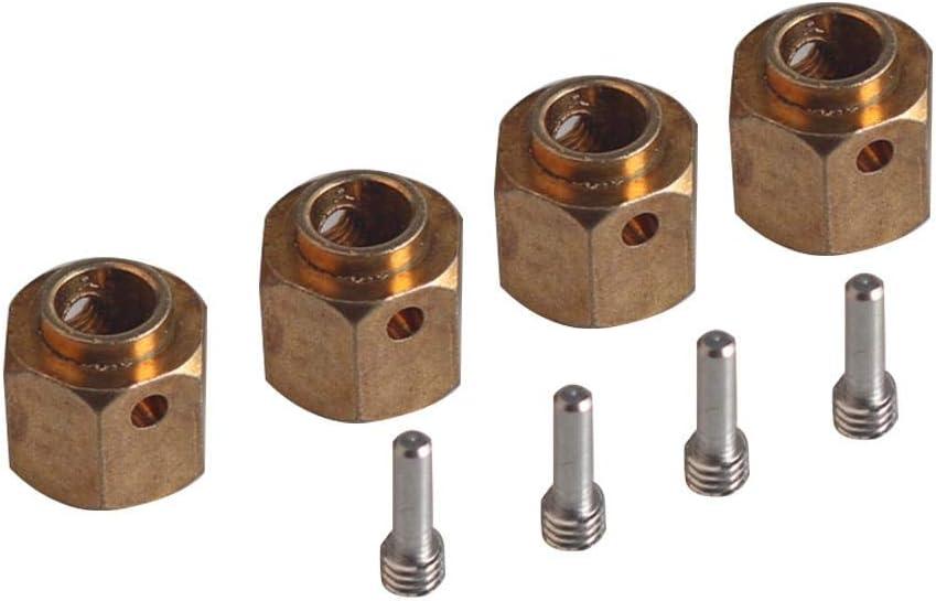 Heavier Brass 12mm Hex Wheel Hub Extended Adapter For Axial SCX10 1//10 CrawlDIU