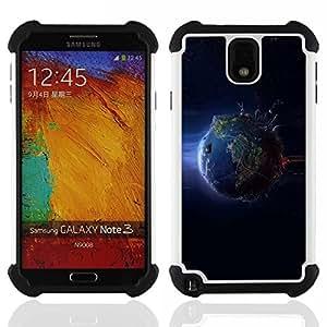 - Cool Planet Earth From Space/ H??brido 3in1 Deluxe Impreso duro Soft Alto Impacto caja de la armadura Defender - SHIMIN CAO - For Samsung Galaxy Note3 N9000 N9008V N9009