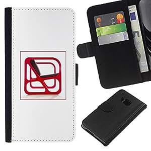 JackGot ( Arte Interior Silla Diseño Red abstracta moderna ) HTC One M7 la tarjeta de Crédito Slots PU Funda de cuero Monedero caso cubierta de piel