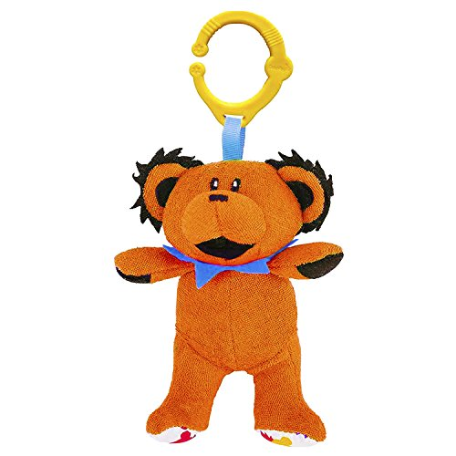 Squeaky Baby Bear - Daphyl's Grateful Dead Dancing Bear, Infant, Interactive Plush Toy, Orange