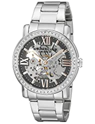 Stuhrling Original Women's 430L.121154 Symphony Regent Lady Consul Automatic Skeleton Swarovski Crystal Grey Dial Watch