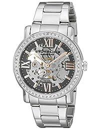 Stuhrling Original Women's 430L.121154 Symphony Regent Lady Consul Automatic Skeleton Swarovski Crystal Grey Dial Watch
