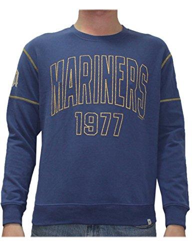SEA Mariners Mens Athletic Thermal Sweatshirt (Vintage Look) XL Blue -