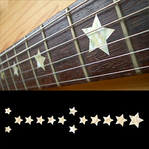 (Fretboard Markers Inlay Sticker Decals for Guitar & Bass - Everly Brothers Star - WP)