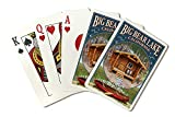 Big Bear Lake, California - Cabin in Woods Montage (Playing Card Deck - 52 Card Poker Size with Jokers)