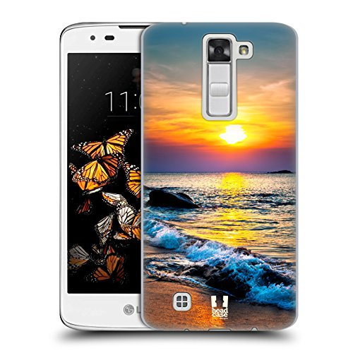 Head Case Designs Colourful Sunset Over The Sea Beautiful Beaches Hard Back Case for LG K8 / Phoenix 2 (Phoenix Case Phone Cellular Suns)