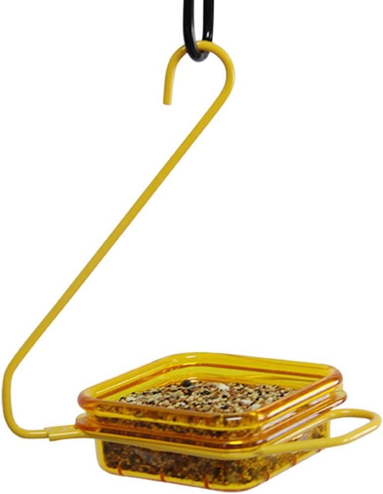 Tlmydd Alimentador de pájaros pequeños al aire libre Diseño de gancho de plástico resistente al desgaste del tazón de los alimentos for pájaros de diseño pequeño con agujeros Sin agujeros Comedero par
