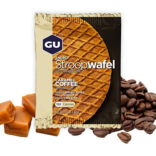 GU Energy Stroopwafel Sports Nutrition Waffle, Caramel Coffee, 16-Count