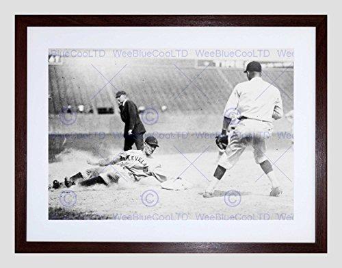 Vintage Sport Baseball Cleveland FEWSTER Base USA Framed Art Print B12X3533