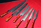 CUSTOM MADE DAMASCUS BLADE 6Pcs. KITCHEN/CHEF'S KNIVES SET A-E 71 - O