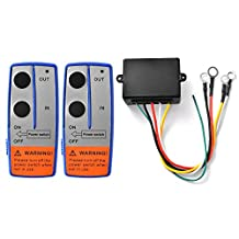 XCSOURCE Heavy Duty 12V Wireless Electric Winch + 2 Remote Control Switch Handset for Car JEEP ATV SUV BI567