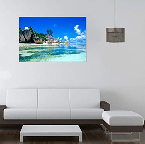 QTXINGMU Pegatinas De Pared Isla Costera Pasillo Dormitorio Sofá Salón TV Fondo Pegatinas Decorativas para Paredes