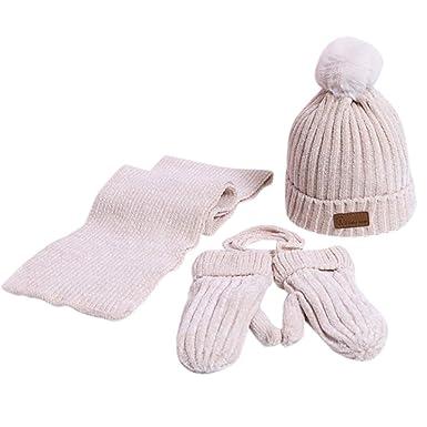 Schal Fäustlinge Mütze Geschenkset für Babys Kleinkind 6 bis 24 Monate