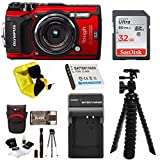 Olympus TG-5 Waterproof Digital Camera (Red) w/ 32GB SD Card, Spare Battery, Charger, Case, & More