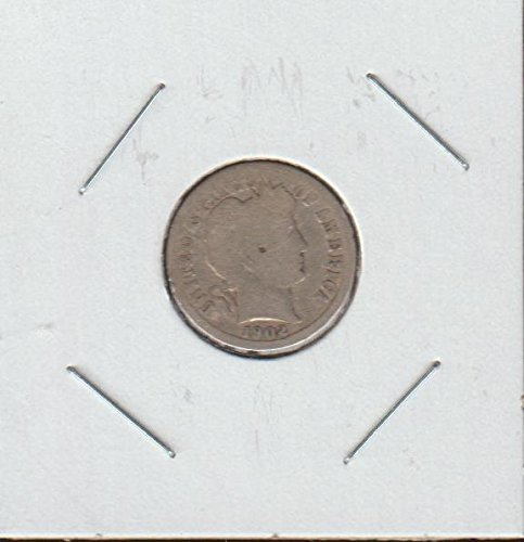1902 O Barber or Liberty Head (1892-1916) Dime Good