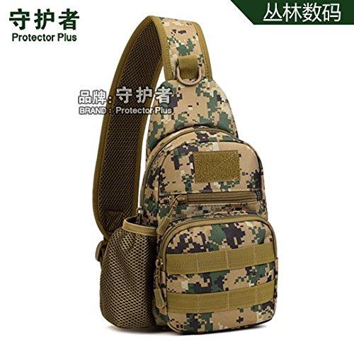 Hongrun Mit einem Wasserkocher Satz Brust pack Outdoor tactical Rucksack Freizeit Single Shoulder Bag female Package Tour Fahrt trinken Brust Pack ist ein Paket Tasche. eh0JXe