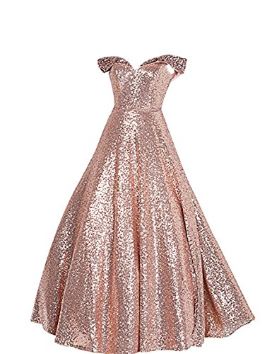 Stillluxury Sequin Prom Dresses Off The Shoulder Crystal Beaded Swing Ball  Gown Long P104 - Buy Online in Oman.  e339b3e27